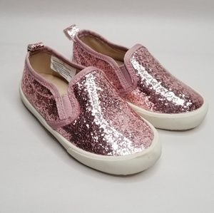 Old Navy Pink Glitter Slip Ons
